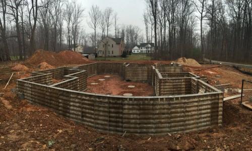 Worthington Valley, custom build, foundation