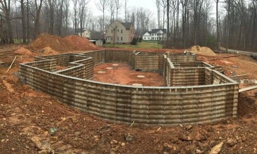 Worthington Valley, custom build, foundation 2