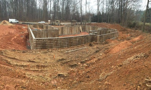 Worthington Valley, custom build, foundation 3